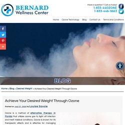 Achieve Your Desired Weight Through Ozone
