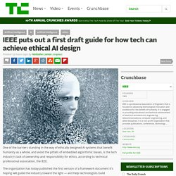 IEEE puts out a first draft guide for how tech can achieve ethical AI design