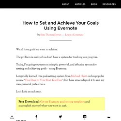 How to Set and Achieve Your Goals Using Evernote