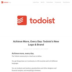 Achieve More, Every Day: Todoist's New Logo & Brand