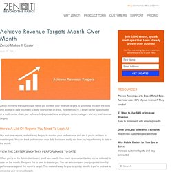 Achieve Revenue Targets Month Over Month with Zenoti