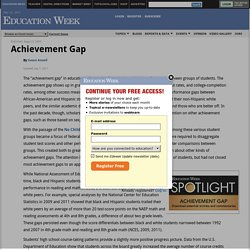 Achievement Gap - Education Week Research Center
