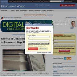 Growth of Online Reading Fuels New Achievement Gap, Researchers Say