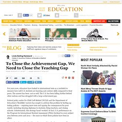 To Close the Achievement Gap, We Need to Close the Teaching Gap