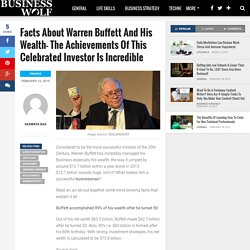 Facts About Warren Buffett And His Wealth- The Achievements Of This Celebrated Investor Is Incredible – Business Wolf