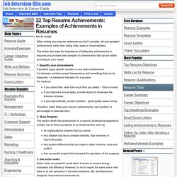 22 Top Resume Achievements: Examples of Achievements in Resumes