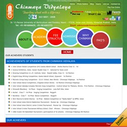 Achievements of Chinmaya Vidyalaya Nauni Students