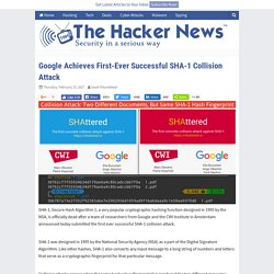 Google Achieves First-Ever Successful SHA-1 Collision Attack