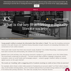 What is the key to achieving a digitally literate society?