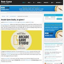 Arcade Game Studio, te quiero ! par Achille Micral - news Jeux indépendants le Samedi 19 octobre 2013 à 00:25