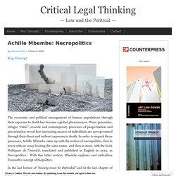 Achille Mbembe: Necropolitics