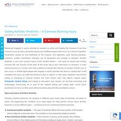 Coding Achilles Tendinitis - A Common Running Injury