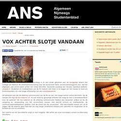 ANS: VOX achter slotje vandaan
