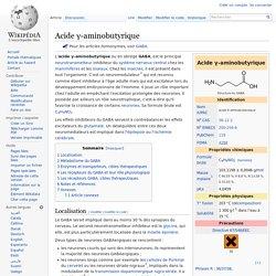 Acide γ-aminobutyrique