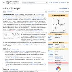 Acide polylactique