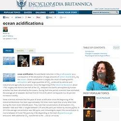ocean acidification (biochemistry)