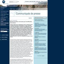 CNRS 16/03/07 Moules et huîtres menacées par l'acidification des océans