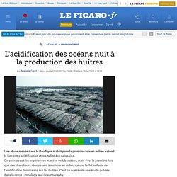 LE FIGARO 02/05/12 L'acidification des océans nuit à la production des huîtres