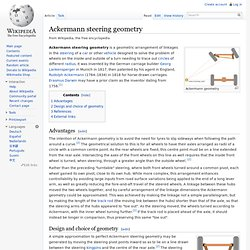 Ackermann steering geometry