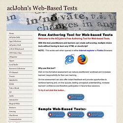 s Web-Based Tests