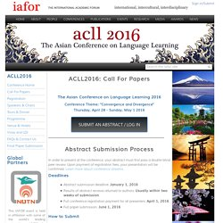 ACLL2016: Call For Papers