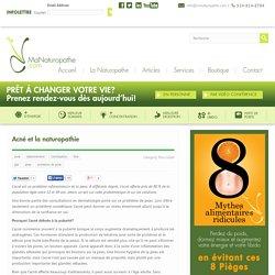 Acné et la naturopathie