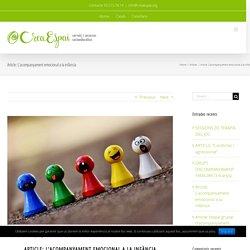 Article: L'acompanyament emocional a la infància – CreaEspai