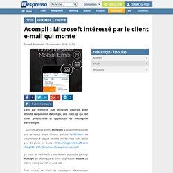 Acompli : Microsoft intéressé par le client e-mail qui monte