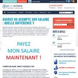 Avance ou acompte sur salaire : quelle différence ?