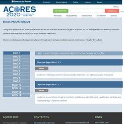 Açores 2020 » Eixos Prioritários