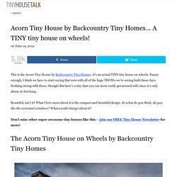 Acorn Tiny House by Backcountry Tiny Homes... A TINY tiny house on wheels!
