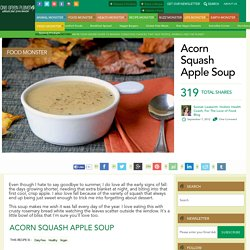 Acorn Squash Apple Soup