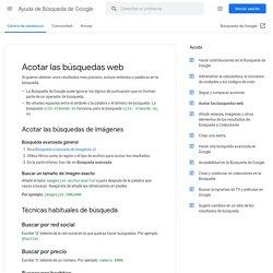 Operadores de búsqueda - Ayuda de Búsqueda web