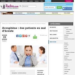 Acouphène : des patients en mal d'écoute