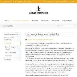 Acouphènes Québec – Les solutions