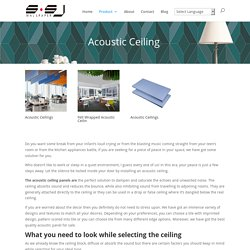 Sound Absorbing Acoustic Ceiling Panels for Home