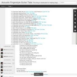 Acoustic Fingerstyle Guitar Tabs: Fingerstyle Hymn Tabs