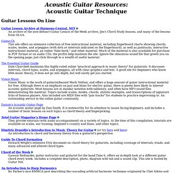 Acoustic Guitar Resources: Technique