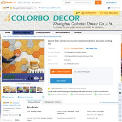 Wood fiber cement acoustic board/wood wool acoustic ceiling tile, View wood fiber cement acoustic board, COLORBO Product Details from Shanghai Colorbo Industrial Co., Ltd. on Alibaba.com