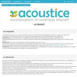 ACOUSTICE: Le projet acoustice