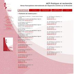 ACP PR Numéros parus