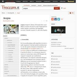 Acqua nell'Enciclopedia Treccani