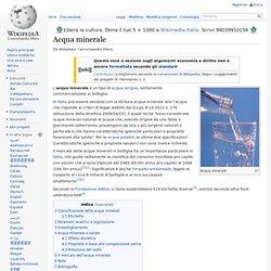 Acqua minerale wikipedia