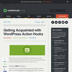Getting Acquainted with WordPress Action Hooks
