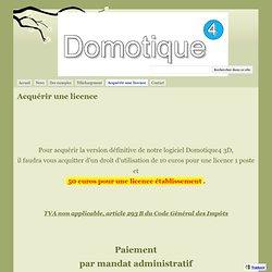 Acquérir une licence - Domotique4