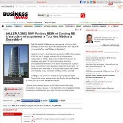 [ALLEMAGNE] BNP Paribas REIM et Cording RE s'associent et acquièrent la Tour des Médias à Dusseldorf