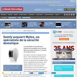 Somfy acquiert Myfox, un spécialiste de la sécurité domotique