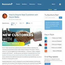 How to Acquire New Customers with Social Media