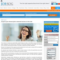 Acquire your dream job in selected sectors in the UAE