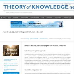 How do we acquire knowledge in the human sciences?